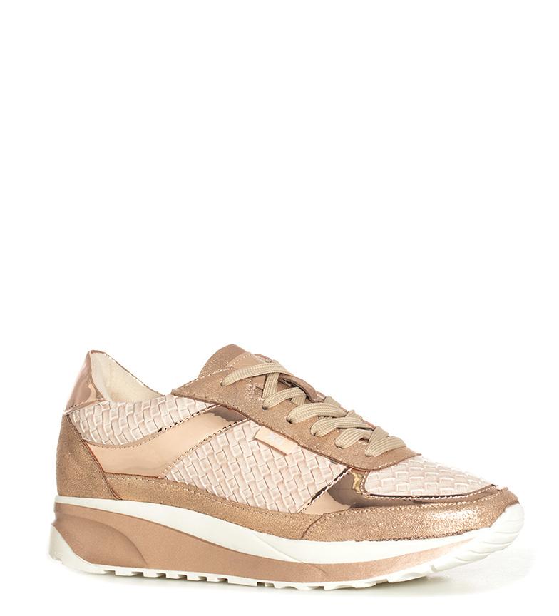 Chaussures Argenté Soidade Femme En Bronze Plat Doré Marron Lacets Xti ad1Cwqw