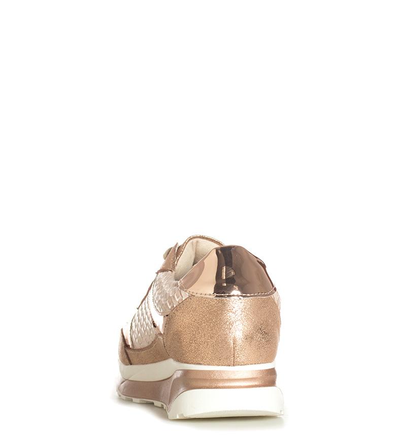 Xti En Lacets Femme Bronze Chaussures Doré Soidade Argenté Marron Plat OrqOP