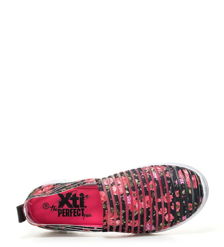 Xti - Zapatillas Jama negro, floral
