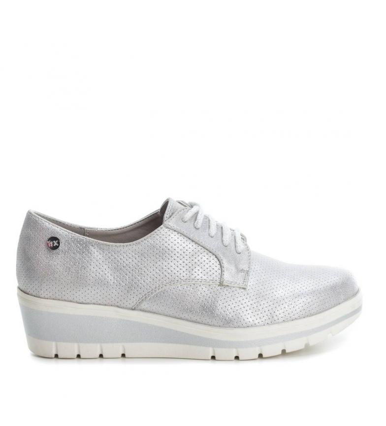 Altura Oxford cuña Zapato plata cuña 4cm Xti E7zIqwxpp