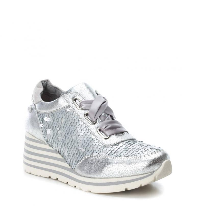 Zapatillas plata i Zapatillas Xti cuña i i Xti paillettes CFqtxgvw