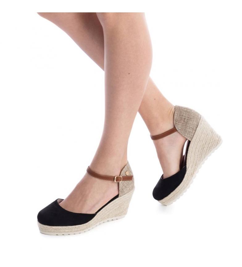 Zapato cuña 048130 media negro Xti yute U1ZxHH