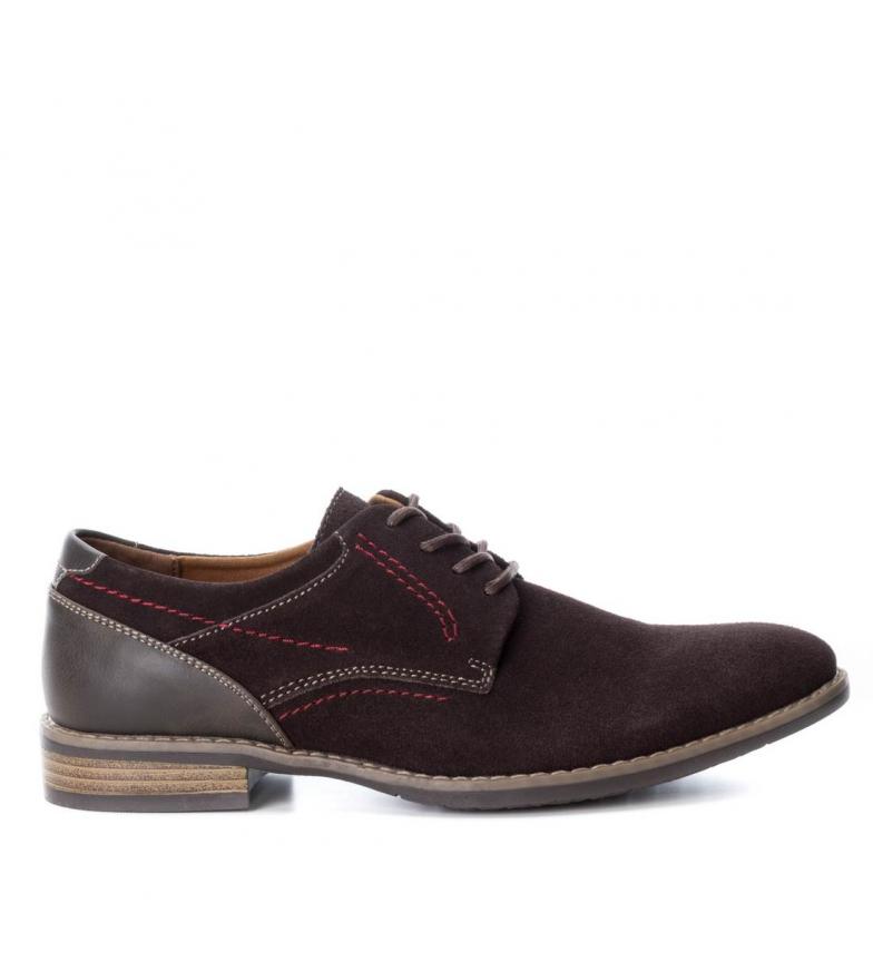 Xti - Zapato Zapato Zapato de piel camel Hombre chico e452b6