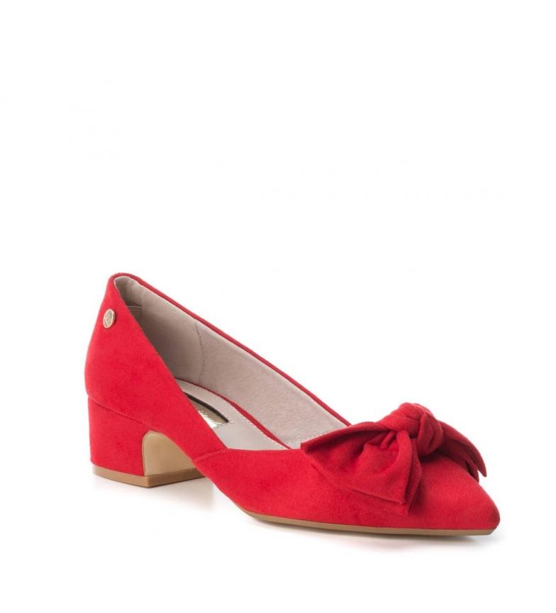 rojo Xti tacón 5cm Altura Zapato lazo rPwqPE