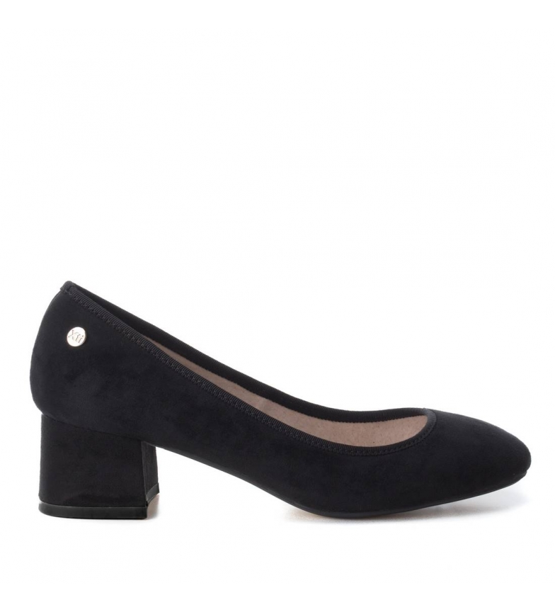 5cm Xti Xti Altura Zapato negro Altura Zapato tacón tacón 5cm negro v4qnT