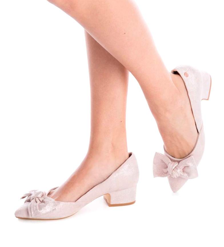 Zapato Xti Altura Altura tacón Xti nude 4cm nude Zapato 4cm tacón qwdIHfntx