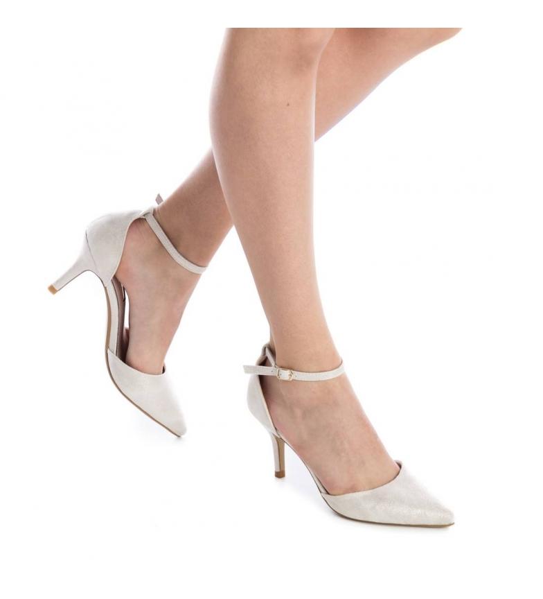 Zapato Xti tacón 8cm Altura oro d7qr7