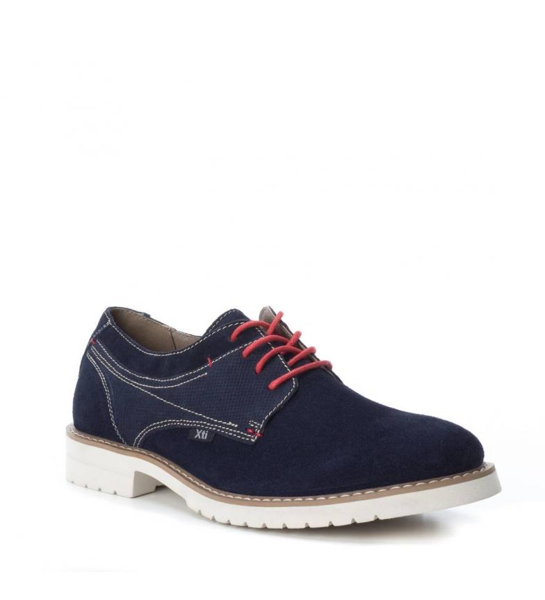 Xti Zapato Oxford serraje navy