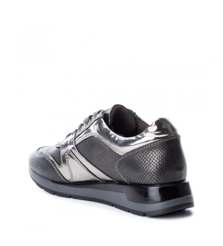 Plomb Plat À Selma Noir Xti Lacets 3 Cm 1 Chaussures Casuel De Gris Femme XwqWZSfE