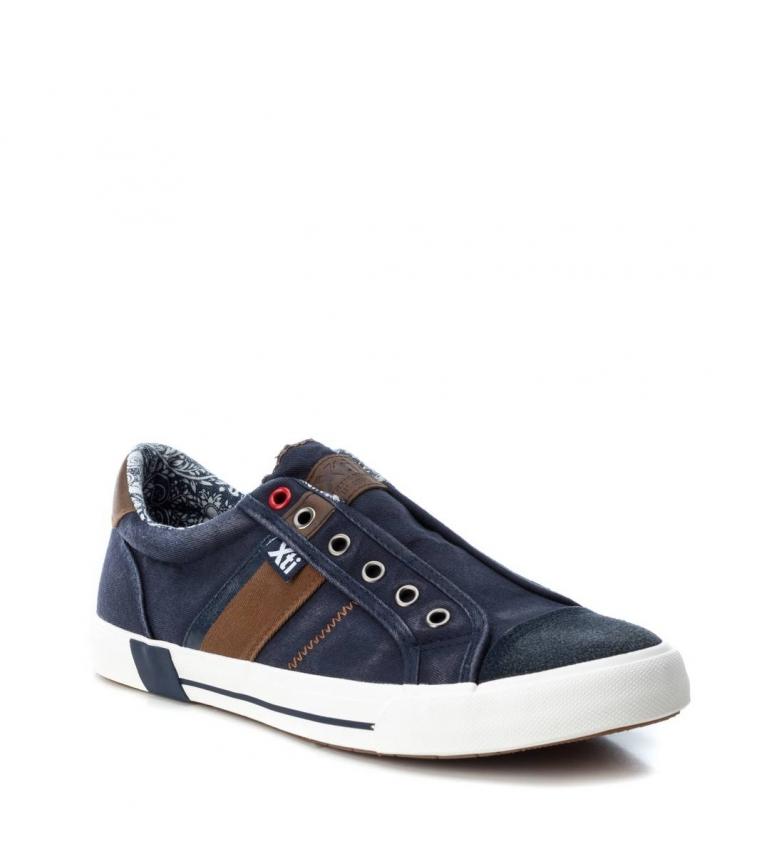 Zapato Plano Xti Navy 048702 8nwPZ0kONX