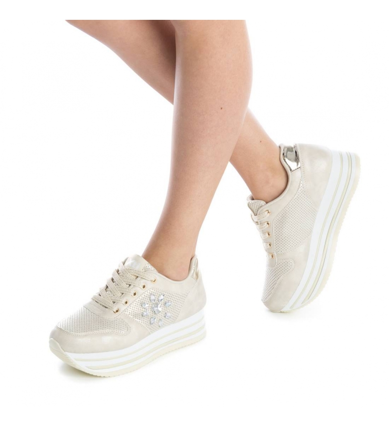 Xti Zapato a oro deportivo plano 048107 1S1C0
