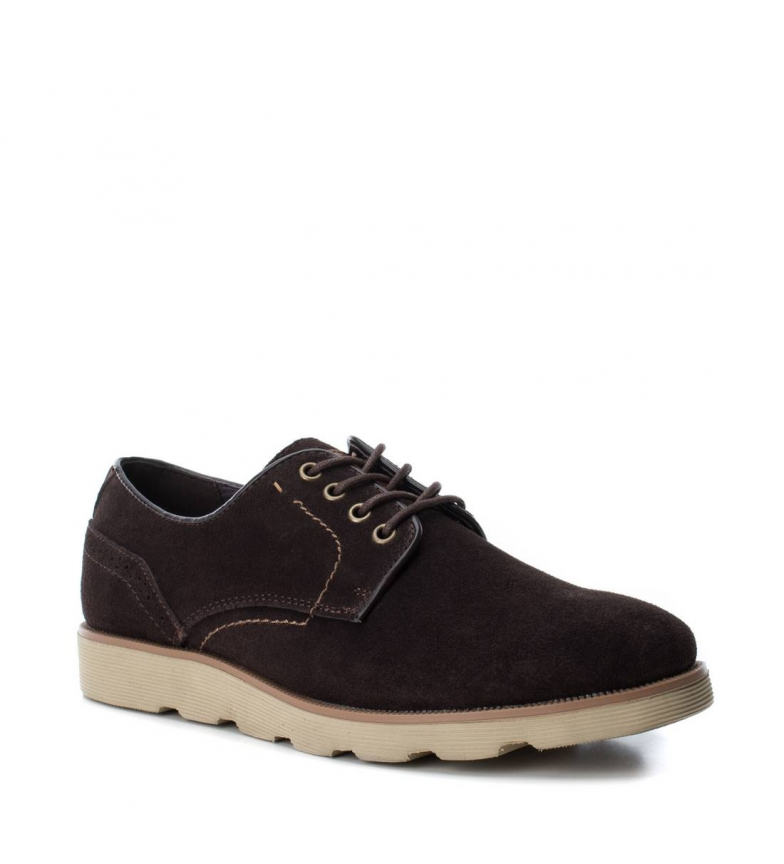 048172 Xti Piel Zapato De Marrn Yb6gfy7