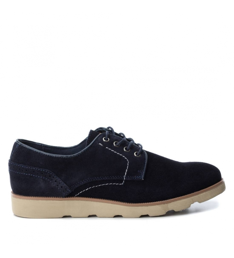 Comprar Xti Leather shoe 048172 navy