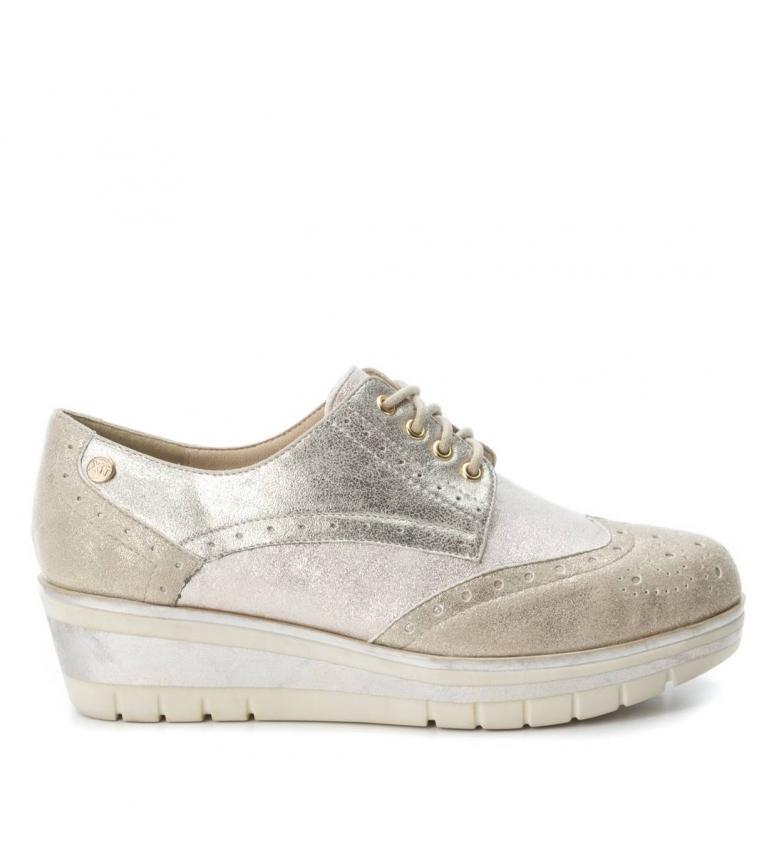 oro Zapato Xti Altura cuña Oxford Zapato cuña oro 4cm Xti cuña Oxford cuña Altura wqH0Fxv