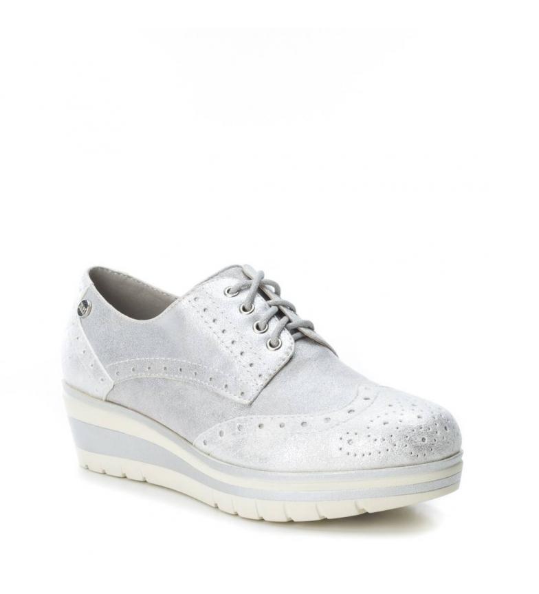 Oxford Altura cuña 4cm Xti Oxford cuña Zapato plata cuña plata Altura Xti Zapato cuña dfwq5fx