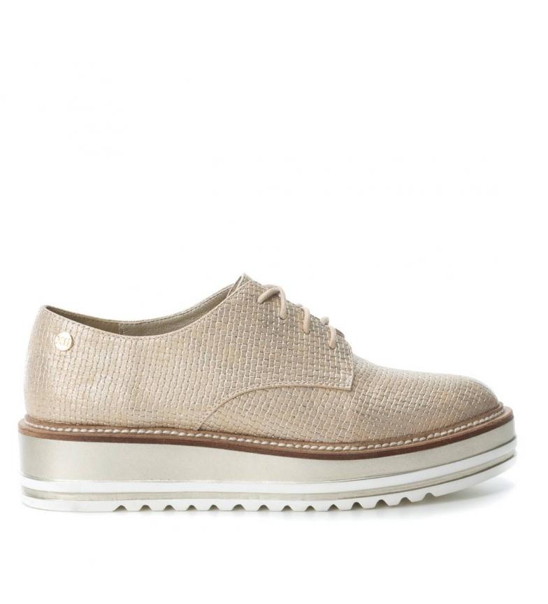 Xti 4cm Zapato Oxford Zapato oro plataforma Altura Oxford Altura oro Xti tqHFFw