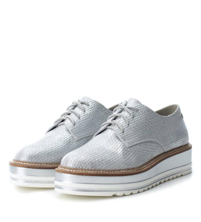 4cm Zapato Xti Altura Zapato Xti plataforma plata Oxford 6fq0FEx