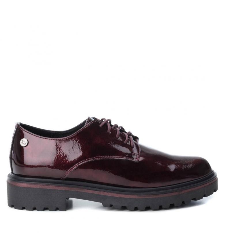 6a147154ad Xti - Zapato plano oxford 048406bur burdeos Mujer chica 1 a 3cm ...