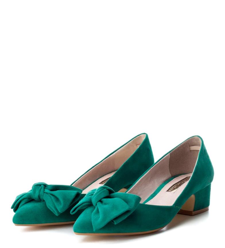 Xti tacón Zapato salón verde Altura 3cm rIr7qpSw