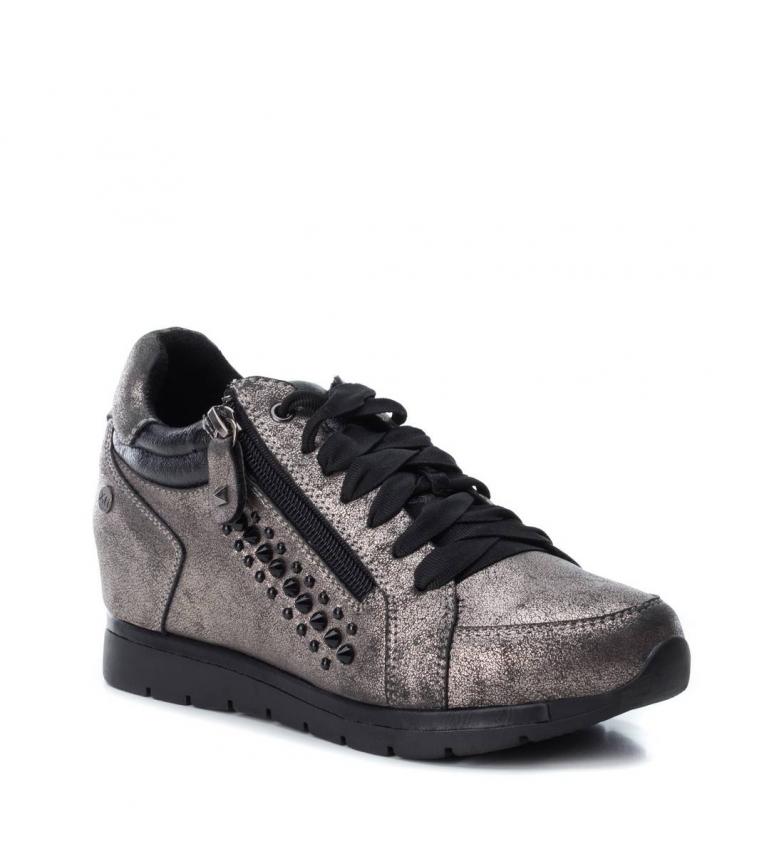 Zapato Cuña XTI Mujer Metalizado Negro 48268
