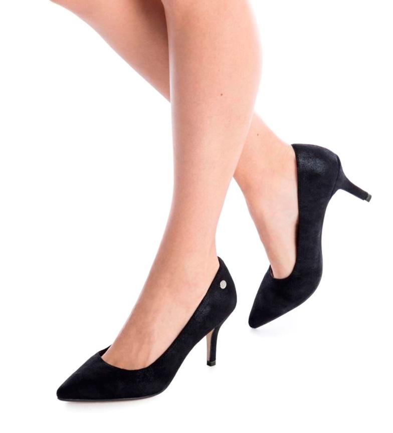 tacón negro Zapato Xti stiletto 7cm Altura AxfwIU