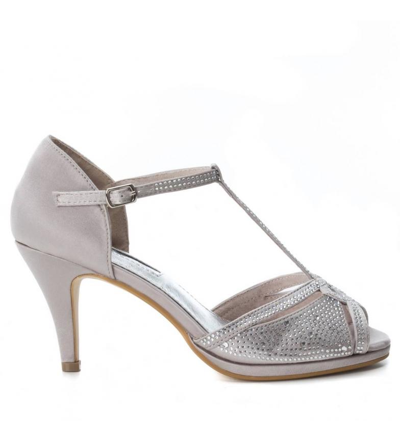 Xti plata 030701 Zapato tacón 9cm tacón Xti 030701 Zapato tacón Altura ZFgfxf