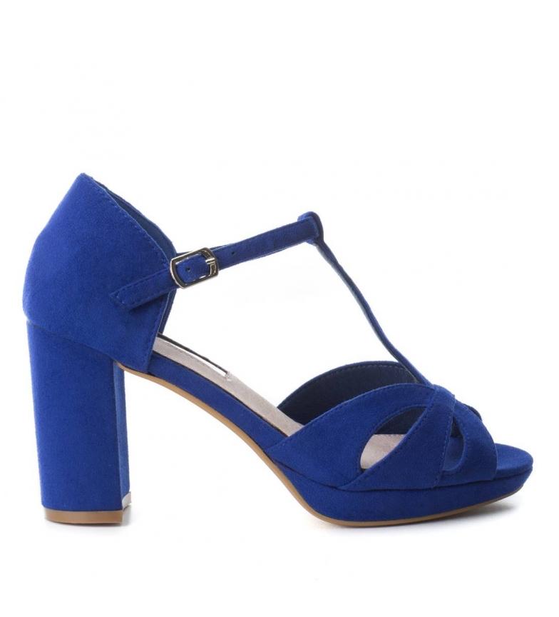 9cm Xti Zapato 030743 Xti azul tacón Zapato Altura tacón rrfqd8