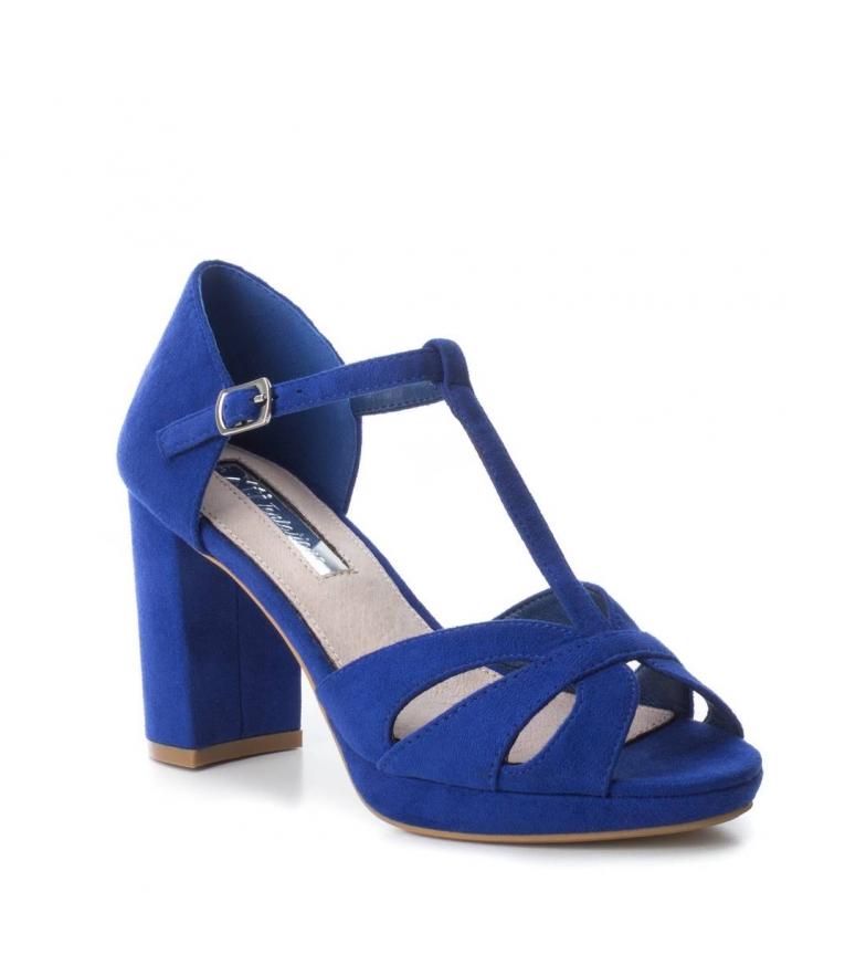 Xti-Tacco-scarpa-030743-blu-Tacco-heel-9cm-Donna-Nero-Rosso-Rosa-Tessuto miniatura 4