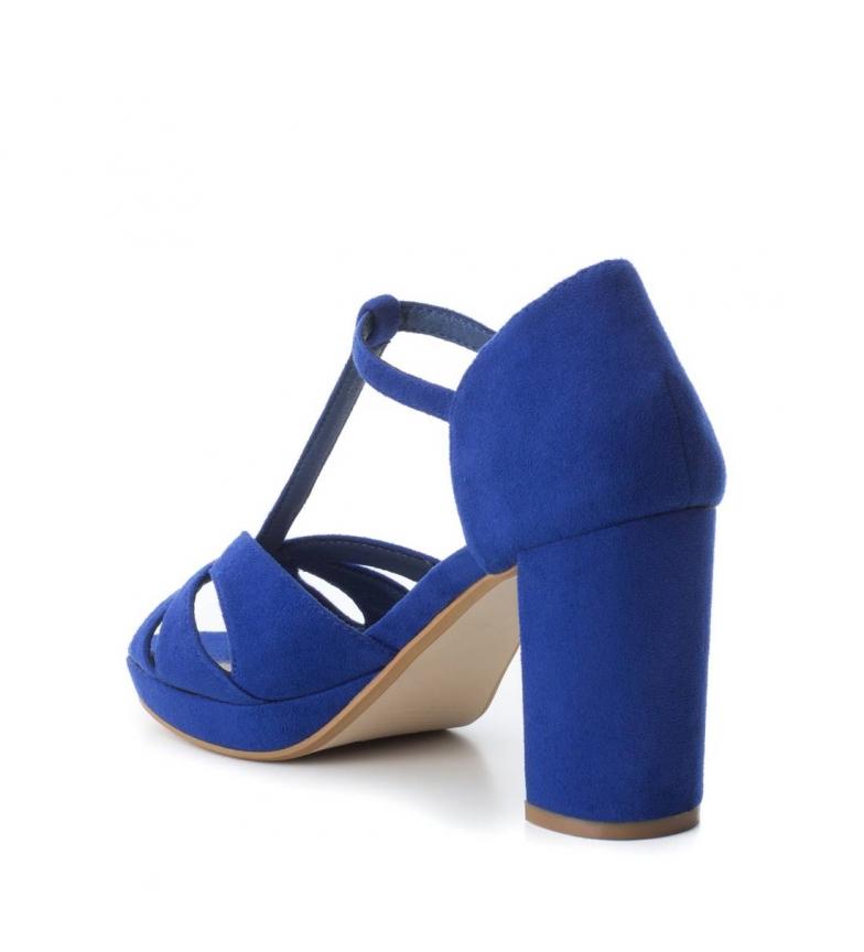 Xti-Tacco-scarpa-030743-blu-Tacco-heel-9cm-Donna-Nero-Rosso-Rosa-Tessuto miniatura 5