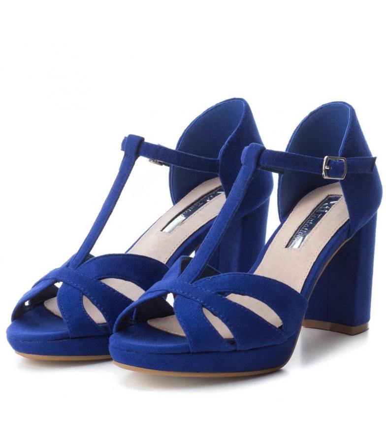 Xti-Tacco-scarpa-030743-blu-Tacco-heel-9cm-Donna-Nero-Rosso-Rosa-Tessuto miniatura 6