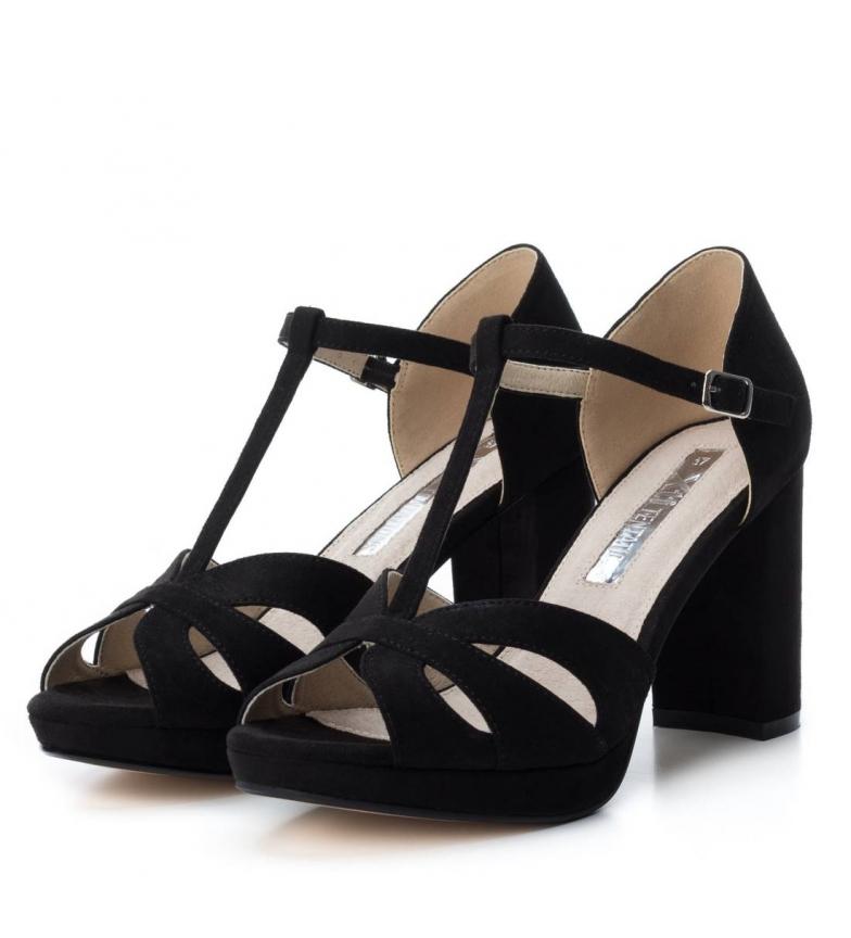9cm 030743 Xti tacón Altura Zapato tacón 030743 Xti Zapato negro Altura tacón negro tacón w4qCZn1g
