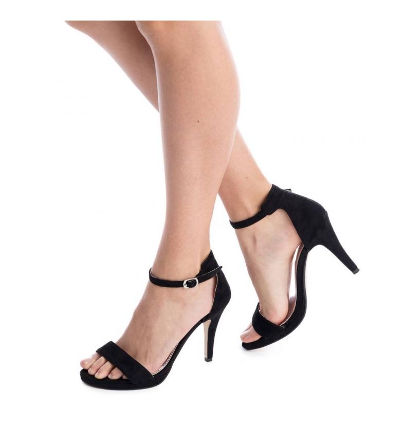 Xti Sandalia negro Altura tacón: 11cm
