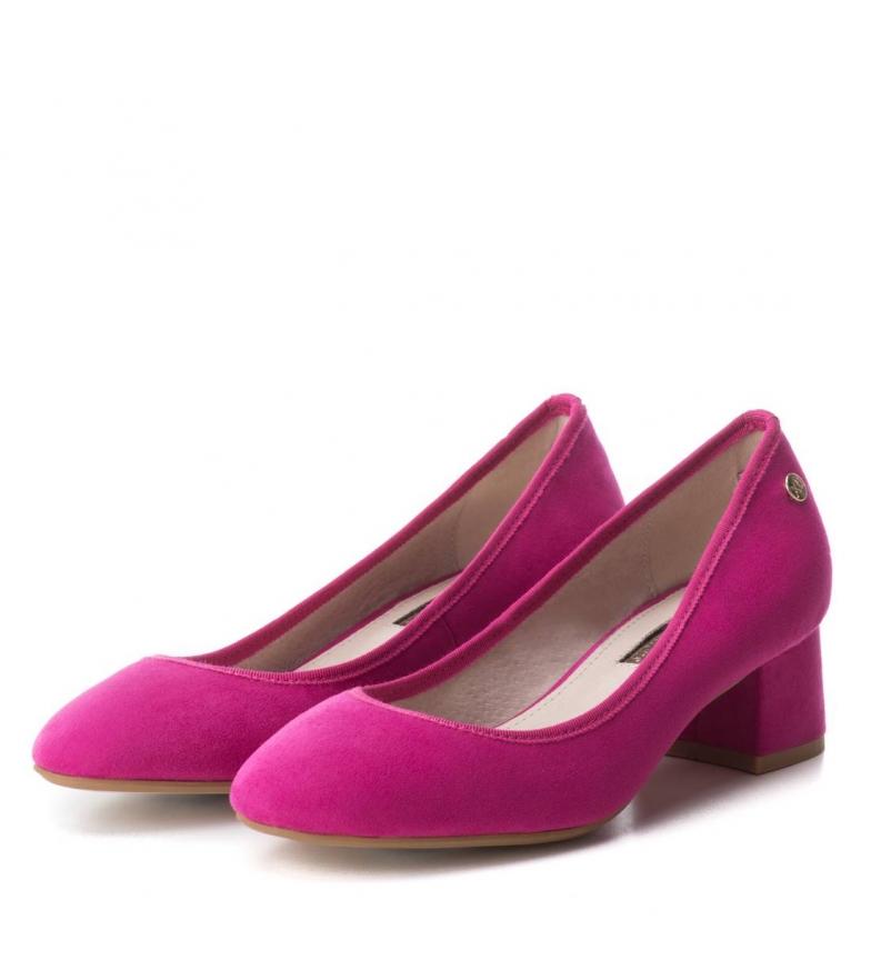Xti Xti Altura Zapato tacón 5cm Zapato fucsia H0FwgqU5F