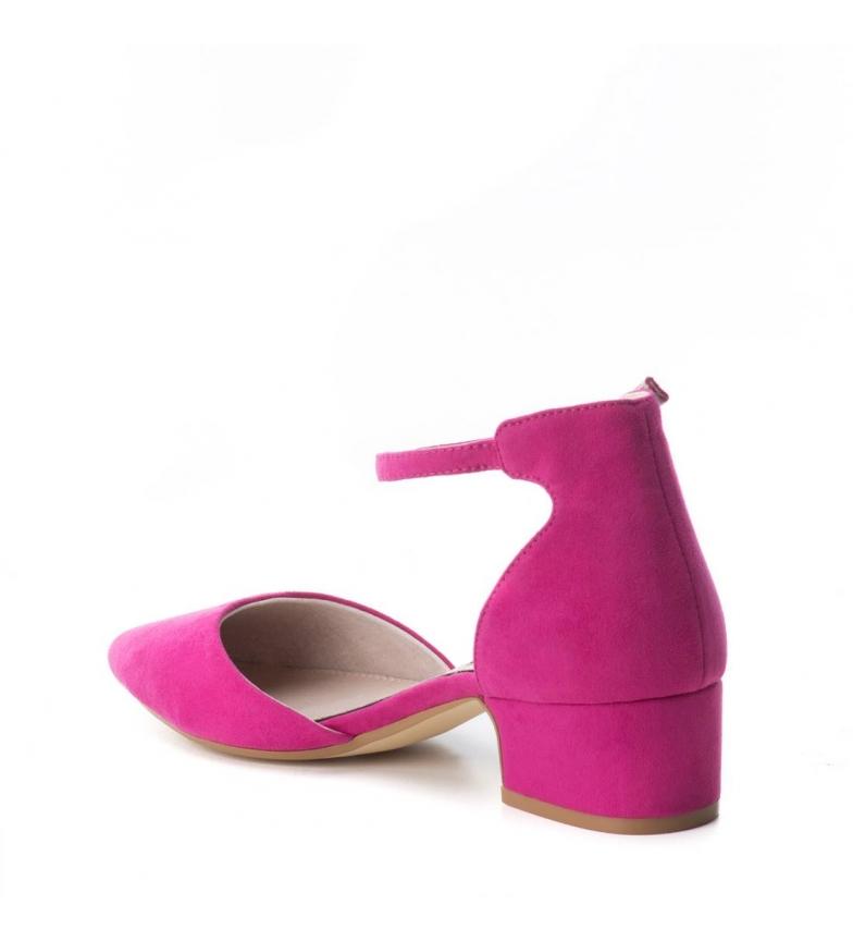 Altura Xti 4cm tacón Zapato Xti Zapato fucsia BInq0YwP