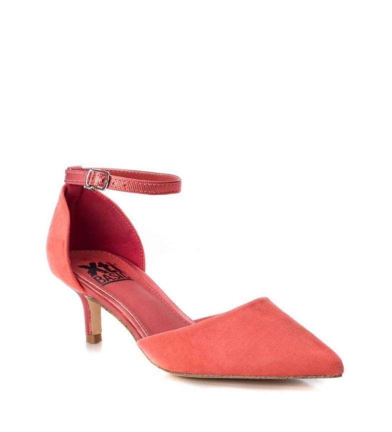 Xti-Scarpa-034111-corallo-Altezza-tacco-6cm-Donna-Tessuto-5-a-8cm-Fibbia miniatura 3