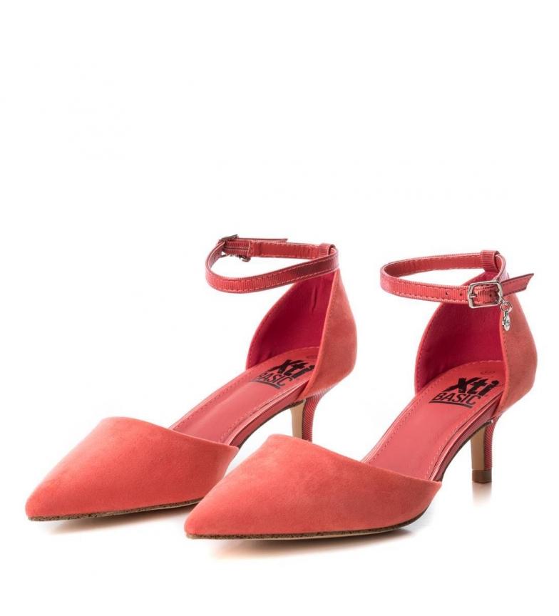 Xti-Scarpa-034111-corallo-Altezza-tacco-6cm-Donna-Tessuto-5-a-8cm-Fibbia miniatura 5