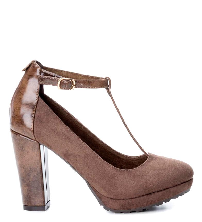 Zapato taupe Altura taupe Xti taupe Altura 10cm Xti Zapato tacón Zapato Altura tacón 10cm Xti tacón pAxfa