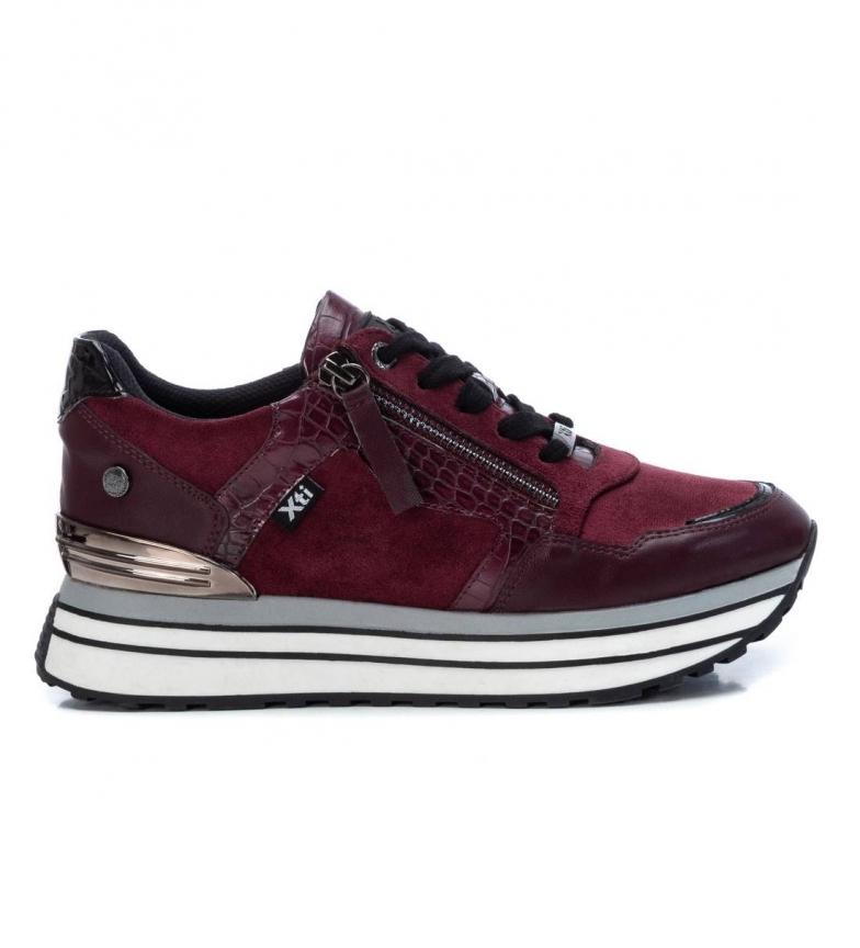 Xti Sneakers 0430070 garnet -Platform height 4.5cm