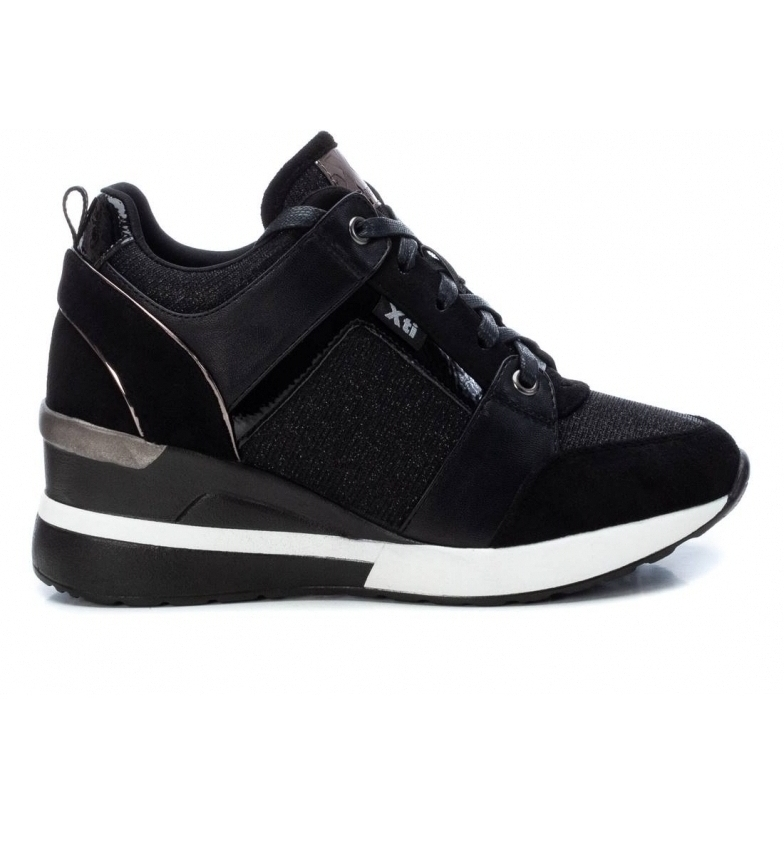 Comprar Xti Slippers 044346 black - wedge height: 5 cm