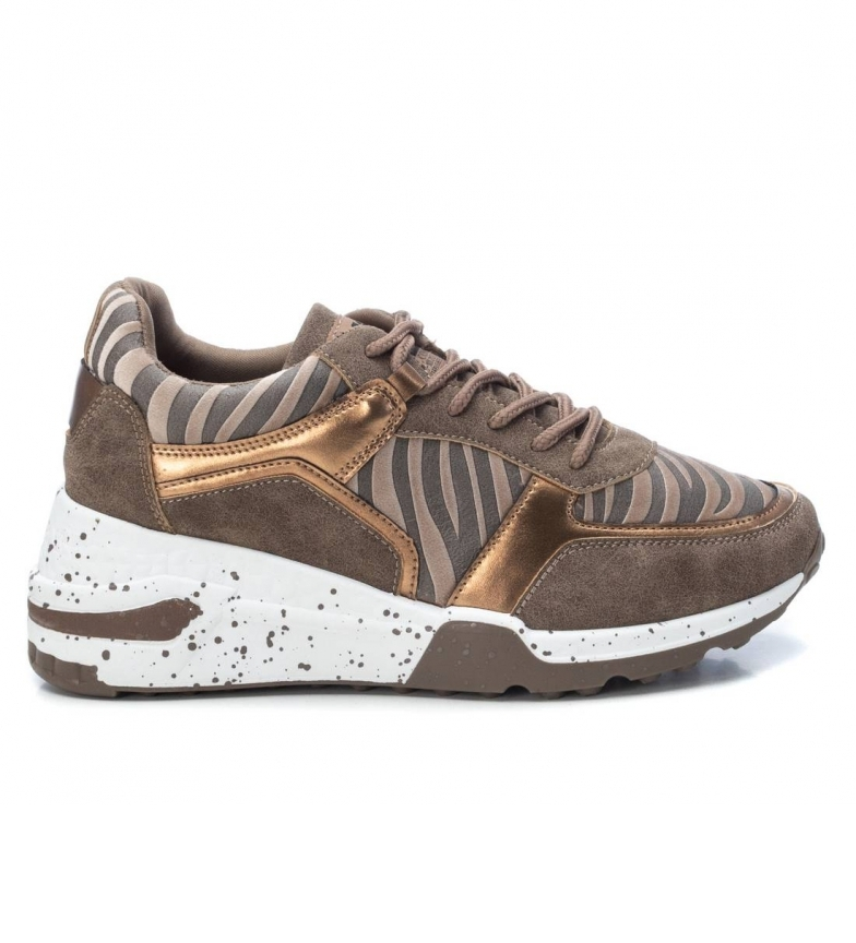 Comprar Xti Chinelos 044599 bronze - Altura da cunha: 6 cm