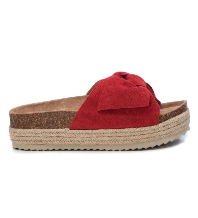 Comprar Xti Sandali in pelle Basic 034306 rosso -Altezza della suola: 4cm