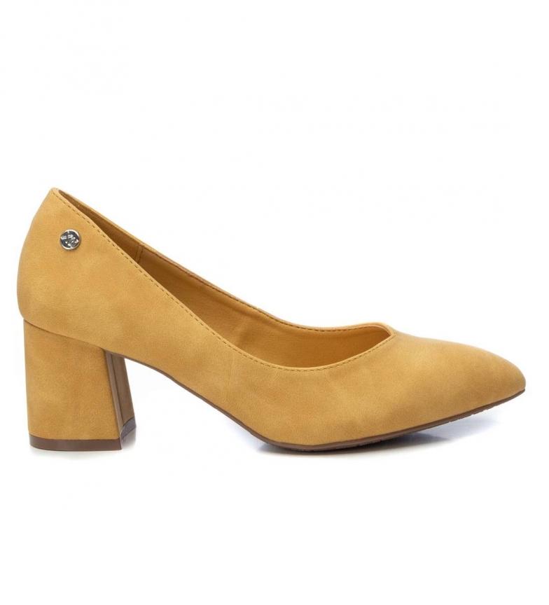 Xti Chaussure de salon 034227 jaune - hauteur du talon : 6cm