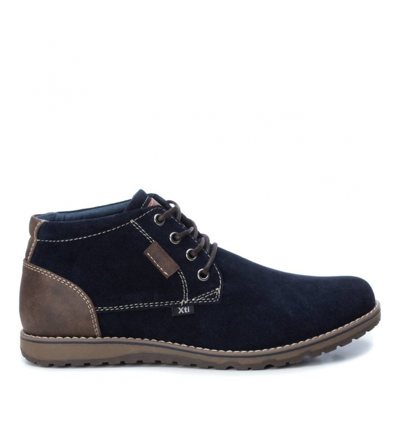 Comprar Xti Leather boots 049219 navy