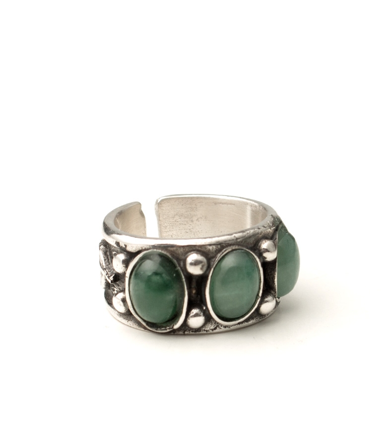Comprar Yocari Silver Ava ring, green