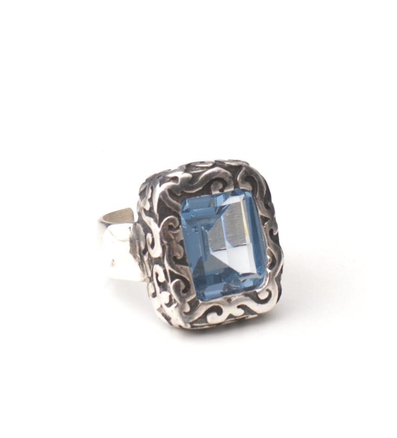Comprar Yocari Baroque ring silver, green