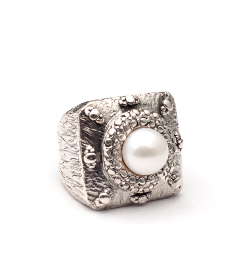 Comprar Yocari Ring Egypt silver, pearl