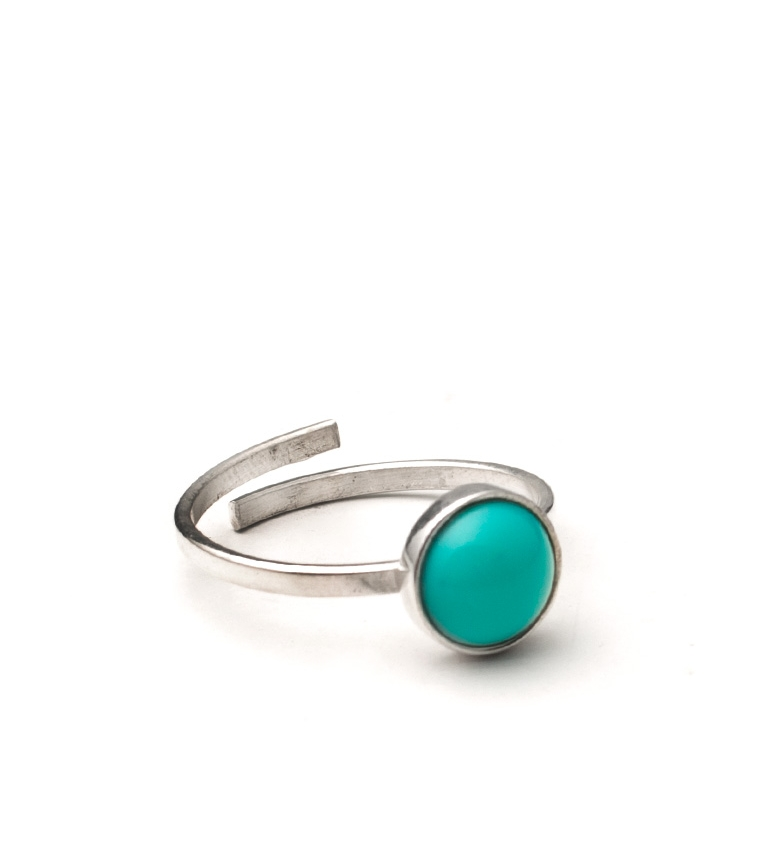 Comprar Yocari Silver Lifetree ring, turquoise