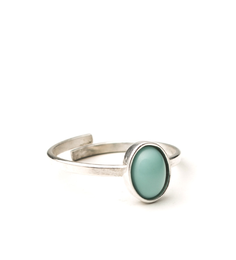 Comprar Yocari Oval silver ring, turquoise