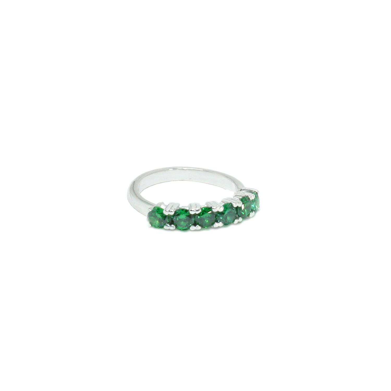 Comprar Yocari Silver Ring 6 Emerald Zircons