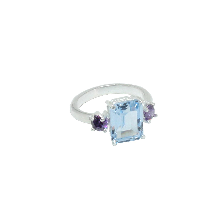 Comprar Yocari Silver ring Amethyst blue